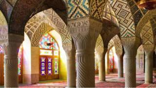 La mezquita de de Nasir ol Molk, Irán
