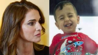 जॉर्डन की क्वीन रानिया और सीरियाई बच्चा अयलान