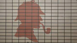 Mosaico de Sherlock Holmes en Baker Street Station