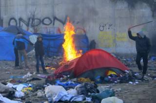 Лагерь беженцев в Кале