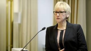 資料圖片:瑞典外交部長瑪戈特・瓦爾斯特倫