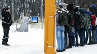 Пограничный пункт между Россией и Норвегией