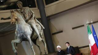 Президент Ирана Хасан Роухани и премьер-министр Италии Маттео Ренци