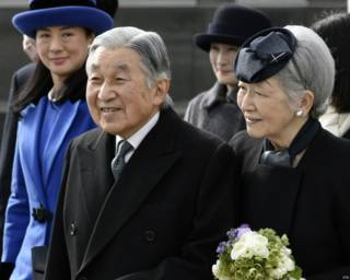 日本天皇明仁和皇后美智子