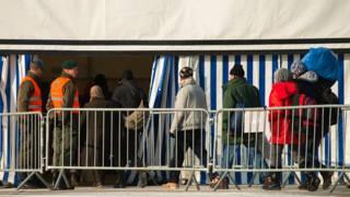 Лагерь мигрантов на границе Словении и Австрии