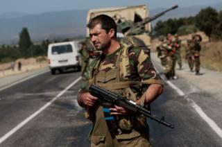 Российский солдат в Грузии