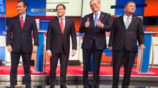 Кандидаты от республиканской партии на пост президента США (слева направо): Тед Круз, Марко Рубио, Джеб Буш, Джон Касич