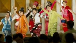 म्यांमार संसद में नृत्य गीत