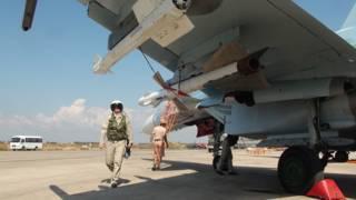 "Российский самолет на авиабазе ""Хмеймим"" в Сирии"