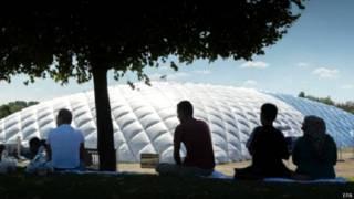 Centro de refugiados en Múnich