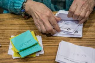 Подсчет голосов на праймериз в Айове