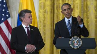 Barack Obama y Juan Manuel Santos