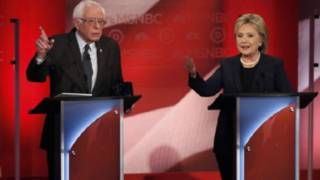 خلاف حاد بين كلينتون وساندرز في أول مناظرة بينهما في انتخابات الرئاسة الأمريكية