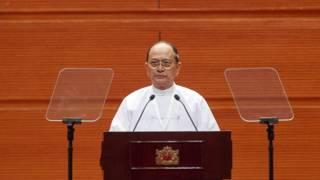緬甸前領導人登盛。