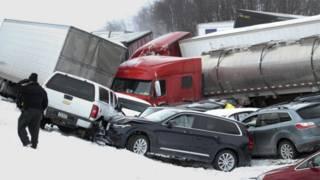 Авария в США