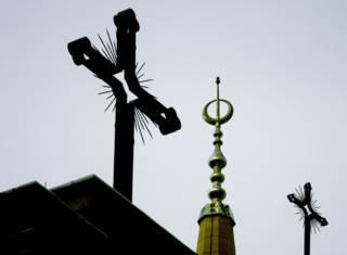Купола церквей разных религий
