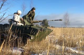Российские десантники на учениях