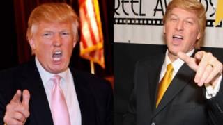 Trump y su imitador Robert Ensler