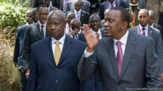 Museveni na Kenyatta