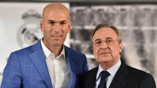 Zinedine Zidane y Florentino Perez