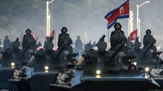Танки на параде в КНДР