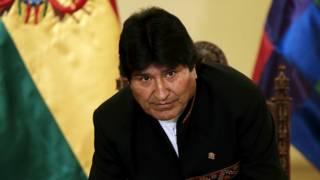 Evo Morales en conferencia