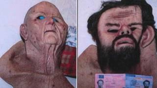 Ảnh do cảnh sát Thụy Điển cung cấp hình 2 mặt nạ cao su được cho là bị cáo đã sử dụng khi bắt cóc nạn nhân