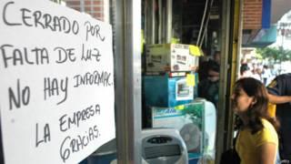 tienda sin luz en Venezuela