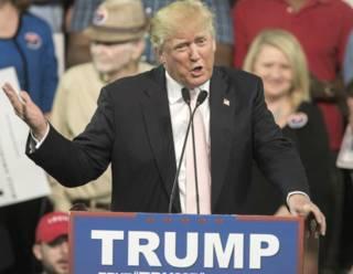 Дональд Трамп выступает перед сторонниками в Джорджии