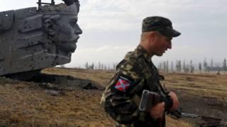 Сепаратист в Донбассе