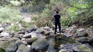 Cauce del río Atoyac, que desapareció en Veracruz, México