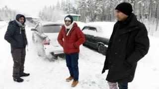 Беженцы на границе России с Финляндией