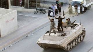 रक्का में आईएस लड़ाके