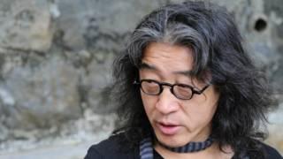 独立中文笔会会长贝岭在香港接受BBC中文网专访。