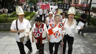 現在台灣境內願意出面的前慰安婦只剩下了3位,而且都是起碼接近九十歲的老人