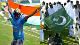 भारतीय और पाकिस्तानी प्रशंसक