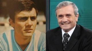 Retrato de Roberto Perfumo cuando estaba en la selección argentina de fútbol y otro de la actualidad