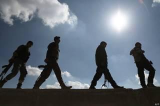 Члены отряда сторонников сирийской оппозиции