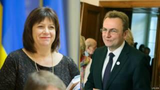 Наталья Яресько и Андрей Садовый