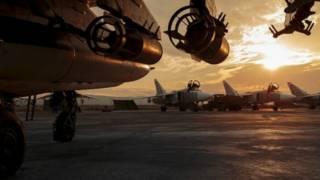 Un avión ruso en Siria