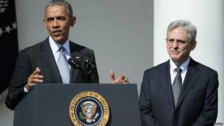 Barack Obama y Merrick Garland en la Casa Blanca