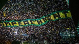 Imagen exterior del Congreso brasileño