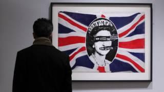 """Картина """"Боже, храни королеву"""", написанная для панк-группы Sex Pistols"""