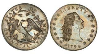 Cеребряный доллар 1794 года