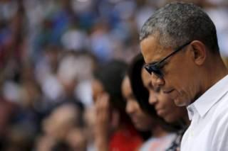 ब्रसेल्स में हमलों के बाद शोक सभा में शामिल ओबामा