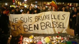 Траур в центре Брюсселя