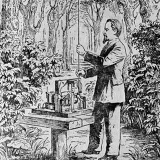 Изобретатель радио Александр Попов (рисунок неизвестного художника)