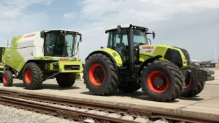 трактора и комбайны на Кубани