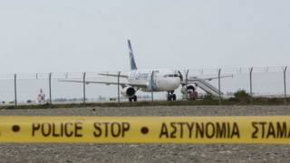 Самолёт авиакомпании EgyptAir в аэропорту Ларнаки