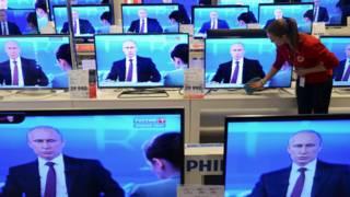 Putin on tv screens